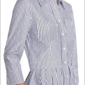 ELIZA J Striped Shirtdress w/ Pockets Sz 8
